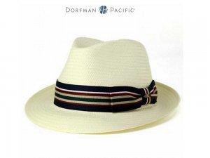 Cappello Fedora Stripe carta paglia Toyo Dorfman Pacific  MD41 ... e5445667cd5b