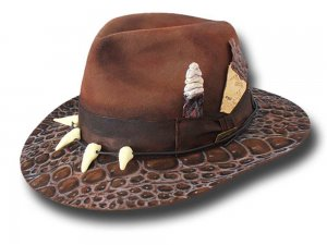 Andrea Bassani Customized handmade hat Indy Adventures