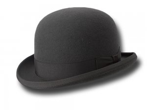 Top quality wool bowler hat