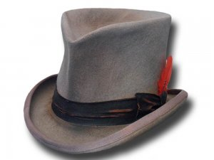 Cappello a cilindro Western Dusty extra quality Top Hat Grigio