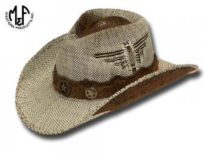 Cappello Western Desert Eagle Diamond Suede Twister Hats