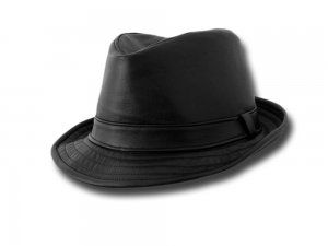 Melegari Brad Pitt Trilby Snatch soft Hat leather Made in Italy