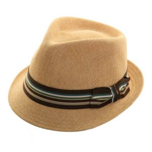 Cappello paglia trilby jazz hat by Hawkins 08