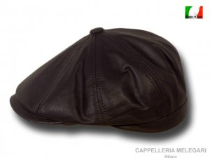Brooklyn Gatsby cap real leather