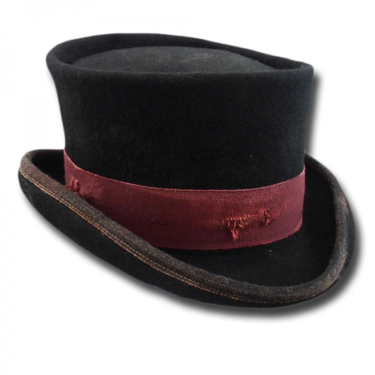ba457bd6095931 Western Desert Rat Top Hat Aged [desert-rat-aged-nero-bordò]. 99.00 ...