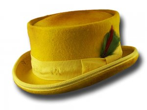 Cappello a cilindro Western Desert Rat Aged Top Hat Giallo