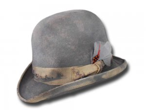 Chapeau melon feutre de lapin Bat Masterson Dusty Top quality