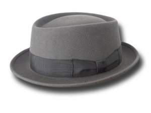 Cappello Pork Pie New Orleans Hat Grigio medio