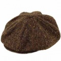 Hanna Hats Berretto irlandese 8 spicchi Connery Malone tweed Cap