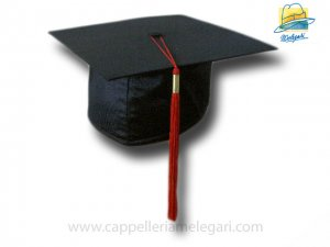 College Grad Hat Mortarboard Red