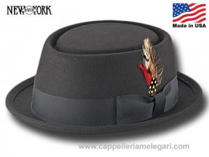 Cappello Porkpie Be Bop New York Hat Co. Made in Usa