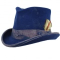 Cappello a cilindro Dandy Aged Western Blu royal