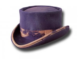 Cappello a cilindro Western Desert Rat Aged Top Hat Viola