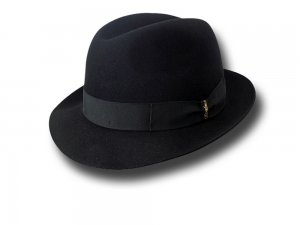 Borsalino Trilby Marengo hat brim 4,5 cm unlined Black