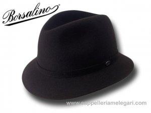 Borsalino Cappello Trilby Traveller Alessandria Marrone  390149-0380 ... 6c4367ce9445