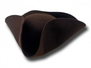 Tricorn soft wool feltl hat