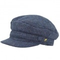 Hatman of Ireland Berretto marinaio skipper Herringbone tweed