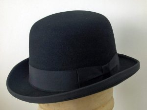 Cappello a lobbia homburg godfather hat feltro lana Melone
