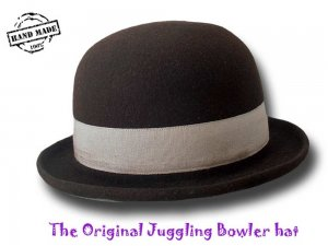 Melegari The Original Jonglier Bowler Hat Professional