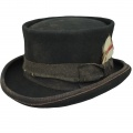 Cappello a cilindro Western Desert Rat Aged Top Hat Nero