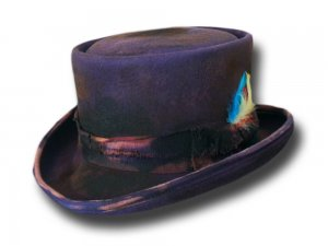 Cappello a cilindro Western Desert Rat Top Hat Aged Dusty