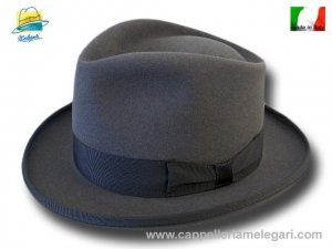 Cappello a lobbia open crown homburg godfather hat