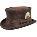 Cappello a cilindro Western Desert Rat Aged Top Hat Marrone