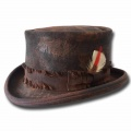 Cappello a cilindro Western Desert Rat Top Hat Dusty Marrone