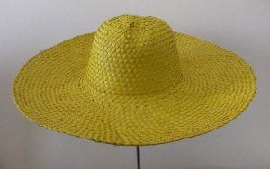 Colorful Palm straw woman Taormina hat large brim 16 cm