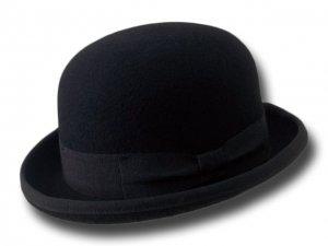 Melegari Cappello a Bombetta in feltro di lana Nero  CM01B00FW nero ... 039ba8b4628a
