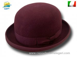 Melegari wool felt Bowler hat Dark red