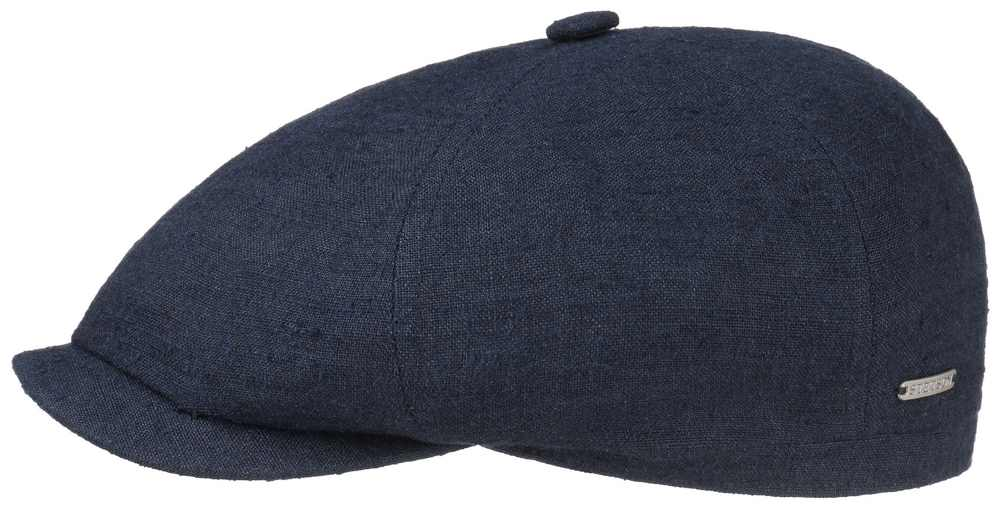 Stetson Brooklin linen-silk cap Blue