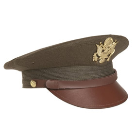Melegari Berretto militare US OD Officier visor hat