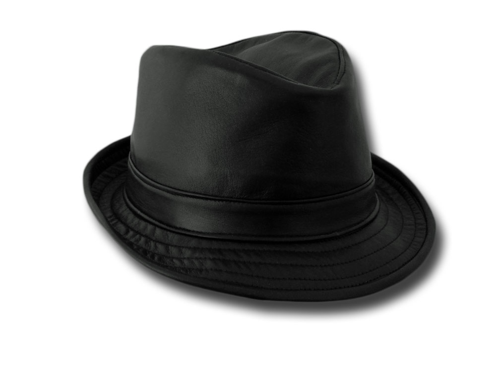 a61109d3840 Melegari Brad Pitt Trilby Snatch soft Hat leather Made in Italy  591 ...