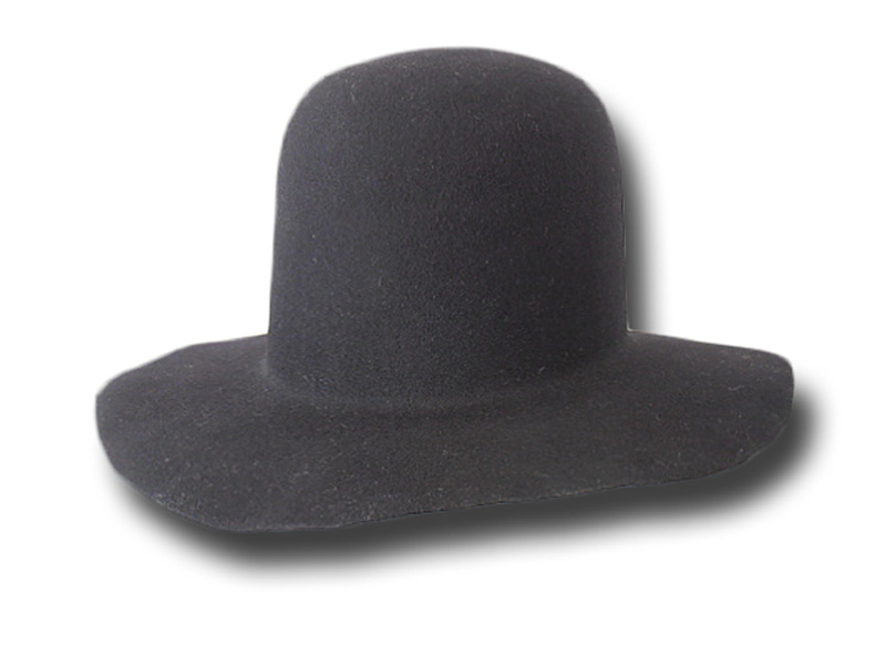 Pilgrim hat Melegari with brim 8 cm high crown