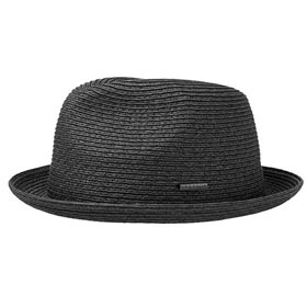 Stetson Black Player Straw Toyo Hat