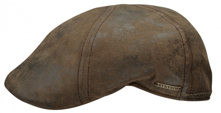 Stetson Texas pig skin distressed leather cap