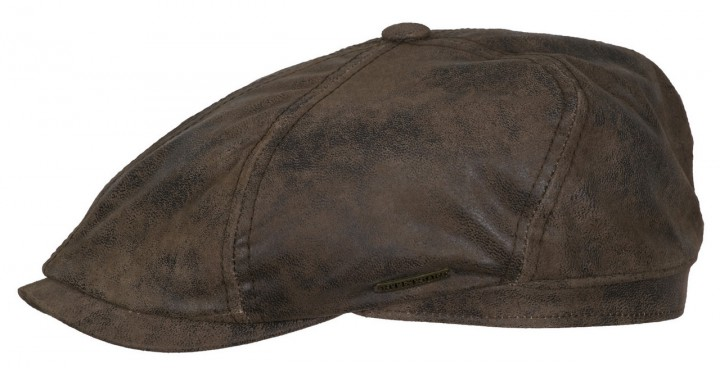 Stetson leather cap pigskin