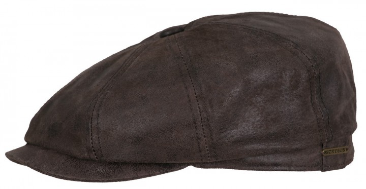 Stetson Hatteras pigskin leather cap