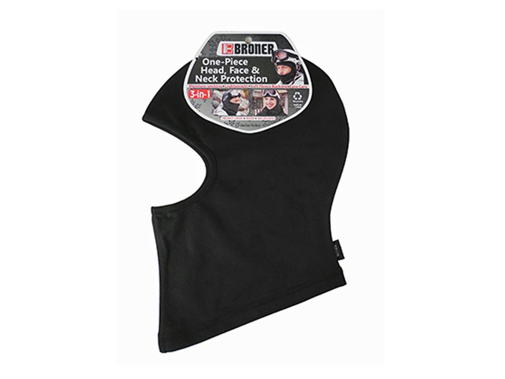 Black Stretch knit mask Liner Broner Hat