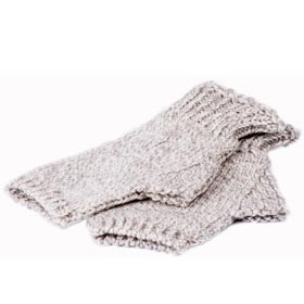 Aran woman Fingerless wool Gloves Aran