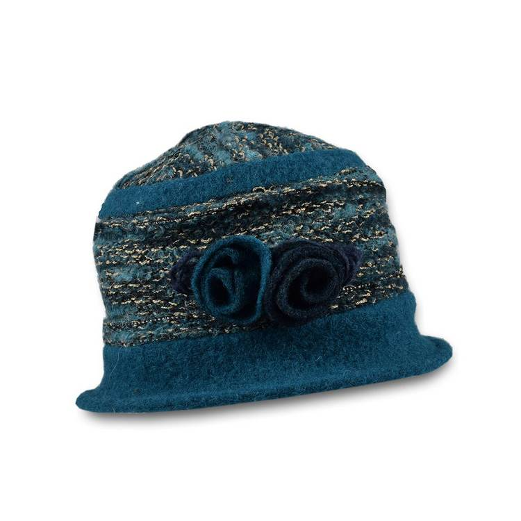 Hat woman wool and polyester wholesale 11