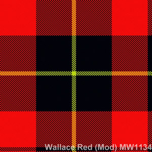 Wolle Krawatte Tartan Wallace Red Mod