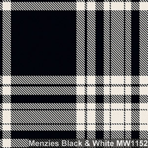 Wool tie tartan Menzies Black