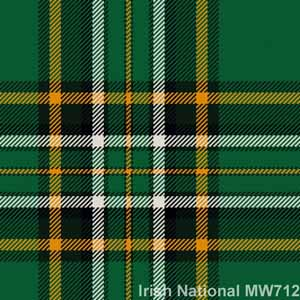 Cravate laine tartan Irish National