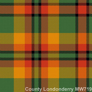 Wool tie tartan County Londonderry