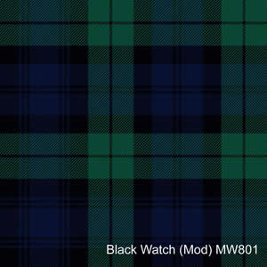 Cravate laine tartan Black Watch Mod
