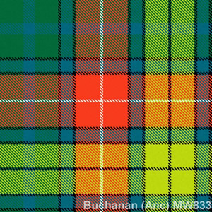 Cravate laine tartan Buchanan Anc