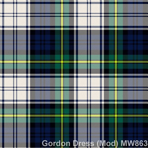 Wool tie tartan Gordon Dress Mod