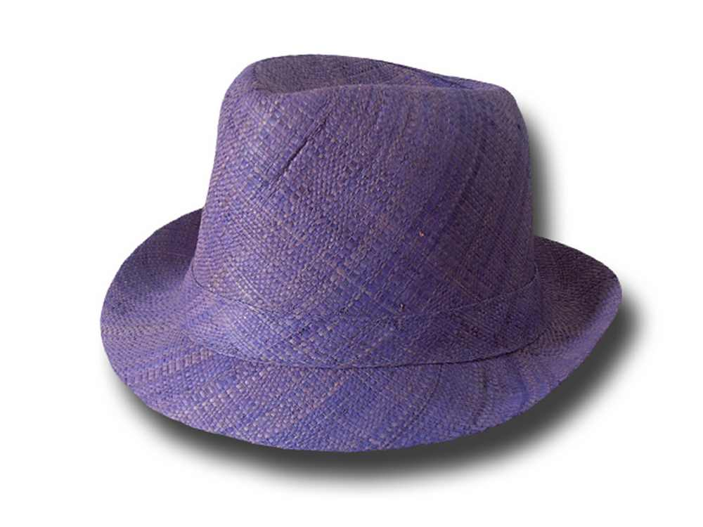 Trilby hat rafia woman summer 2